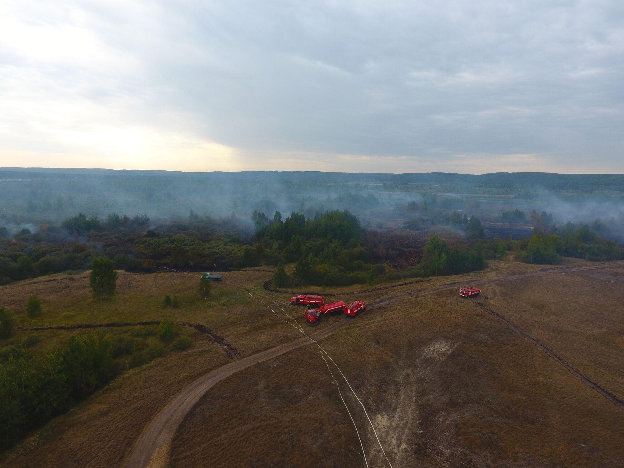 Под Черкассами полыхает масштабный пожар: объявлена чрезвычайная ситуация