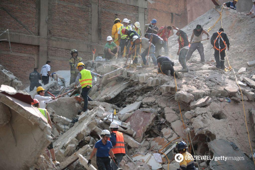 ВМексике 248 человек погибло после землетрясения в7 баллов