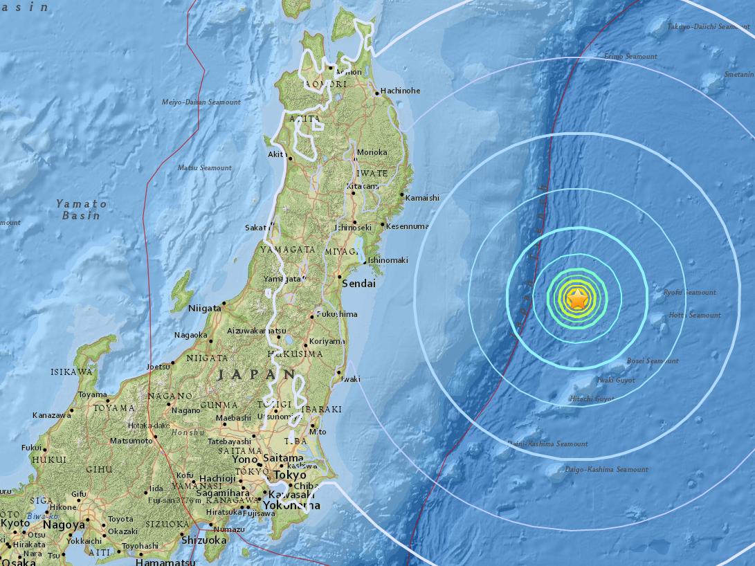 Японию всколыхнуло мощное землетрясение у Фукусимы