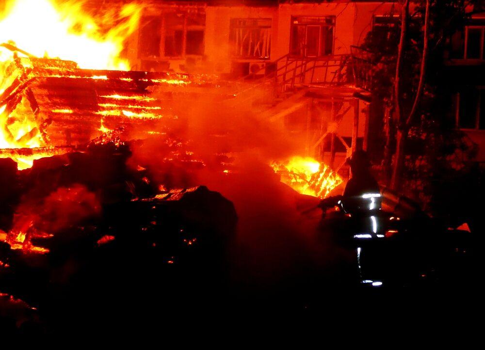 Пожар в одесском лагере