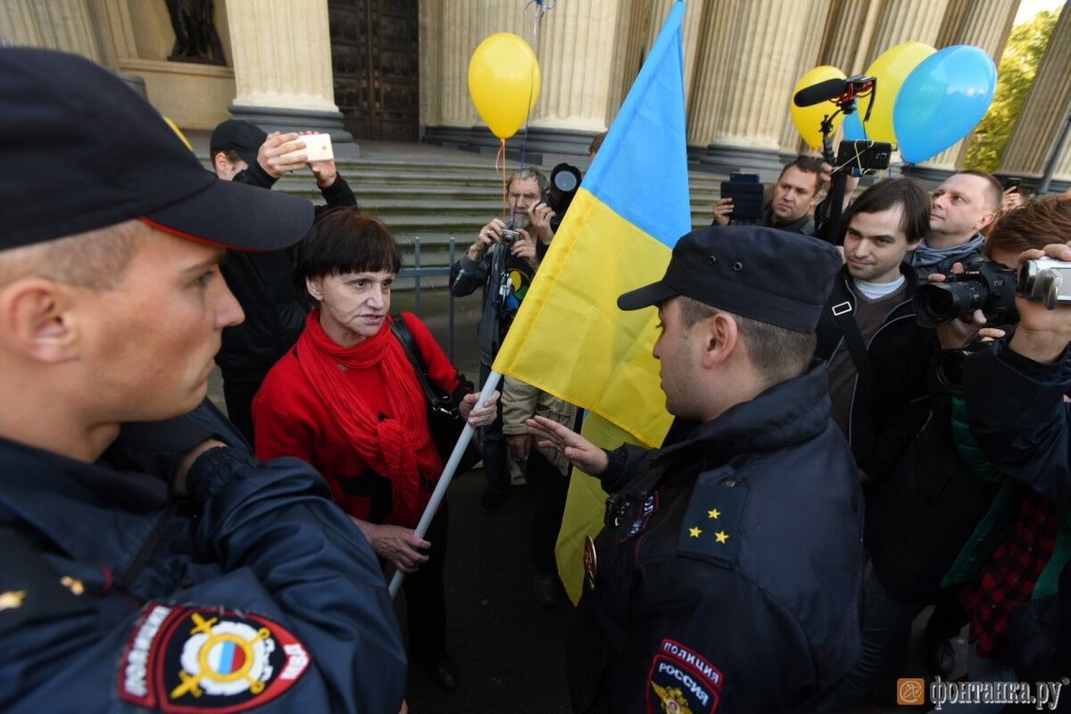 """""""Путин - это война!"""" Петербург вышел на несанкционированный митинг против войны с Украиной"""