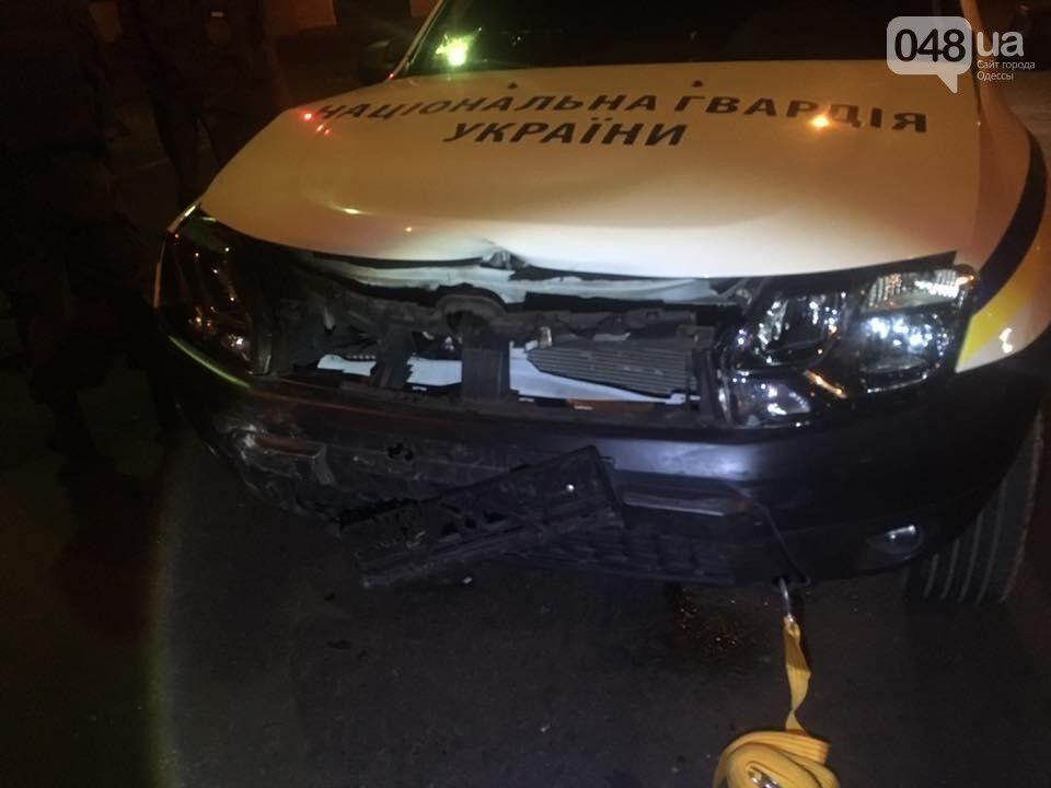 В Одесі бійці Нацгвардії влаштували ДТП на службовому авто