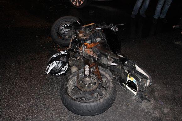 BMW сбил мотоциклиста