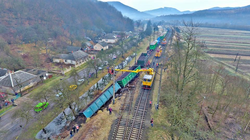 На Закарпатье сошел с рельсов поезд