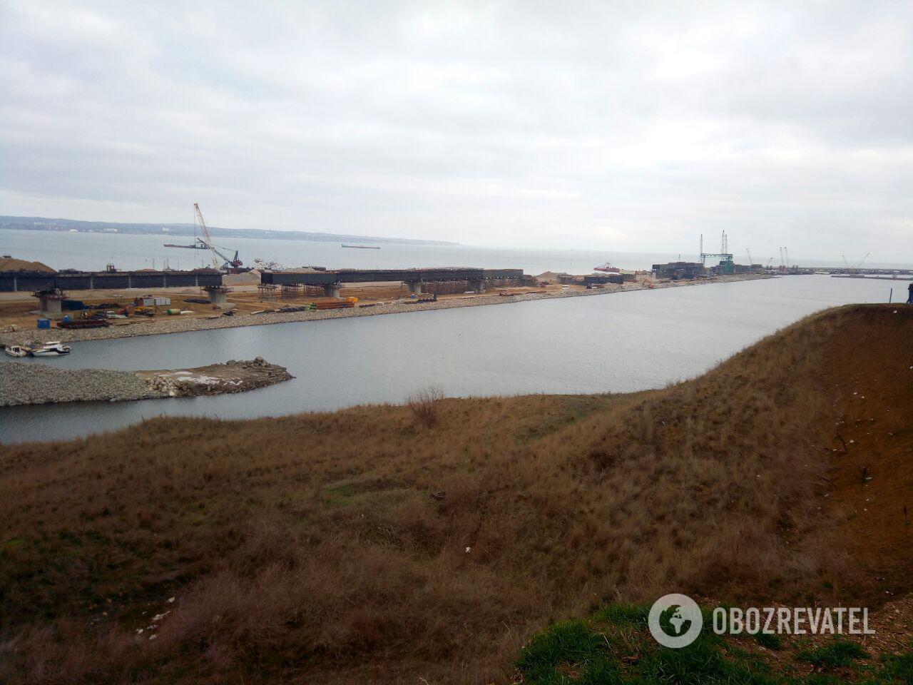 Строительство Крымского моста: появились свежие фото и видео