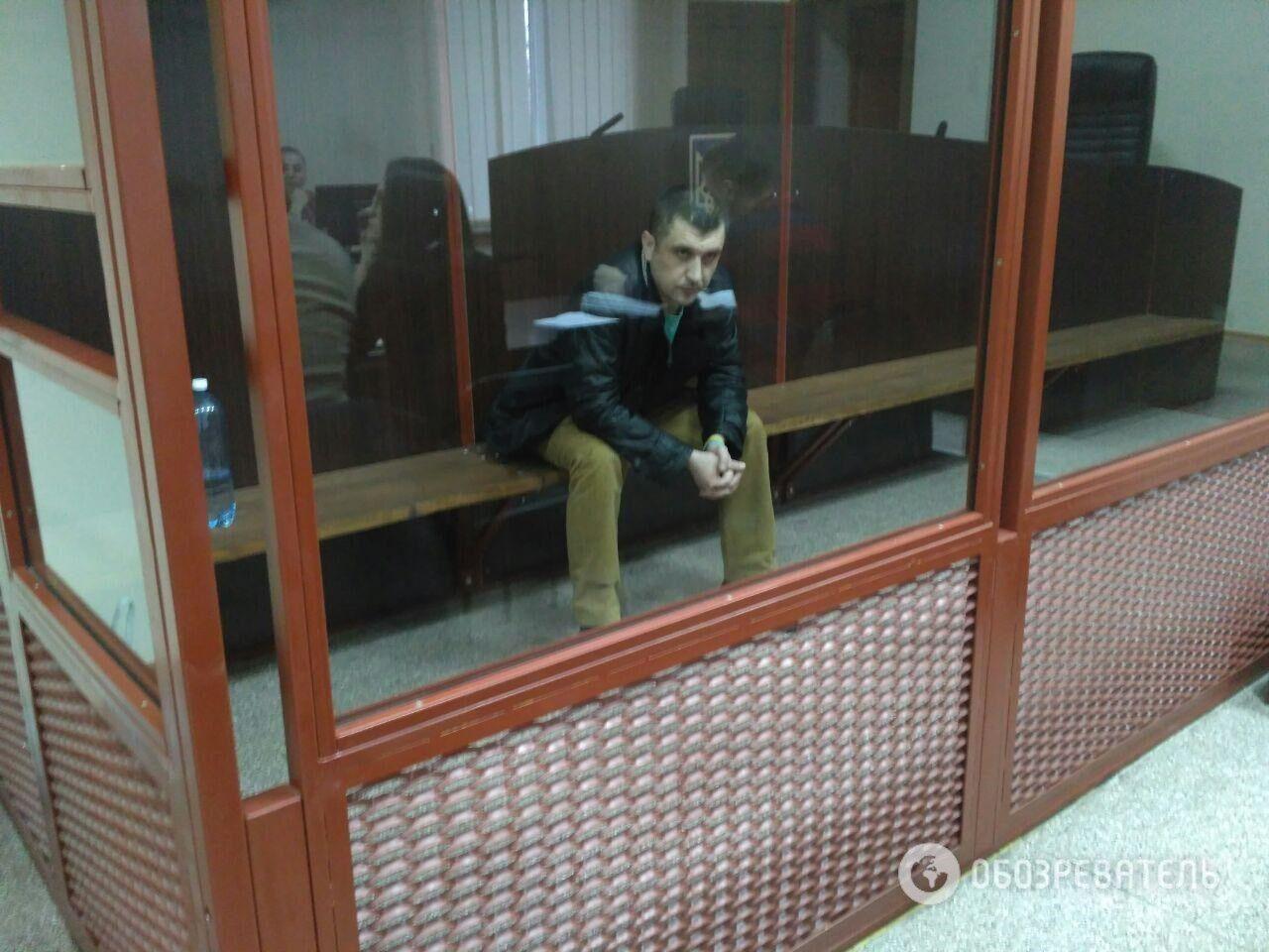 Дмитрий Россошанский во время суда 27 декабря