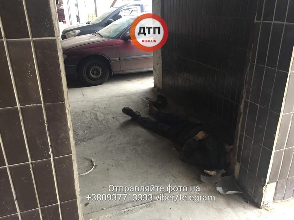 Мертвый бездомный