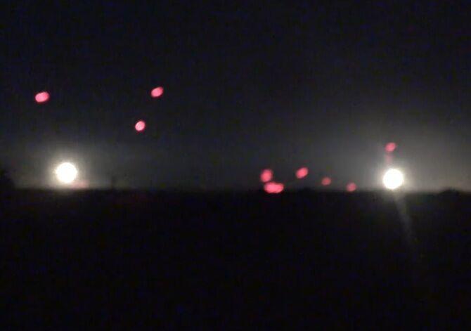 Небо разрывалось: бойцы АТО показали видео ночной стрельбы из артиллерии