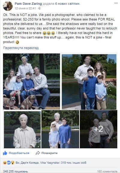 Фотосессия американской семьи довела мир до истерики