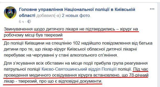 Пост ГУ Нацполиции в Киевской области