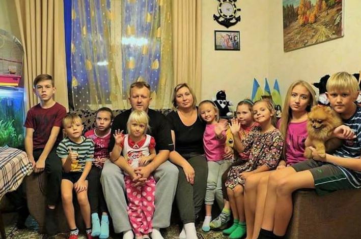 Владимир Родиков с семьей