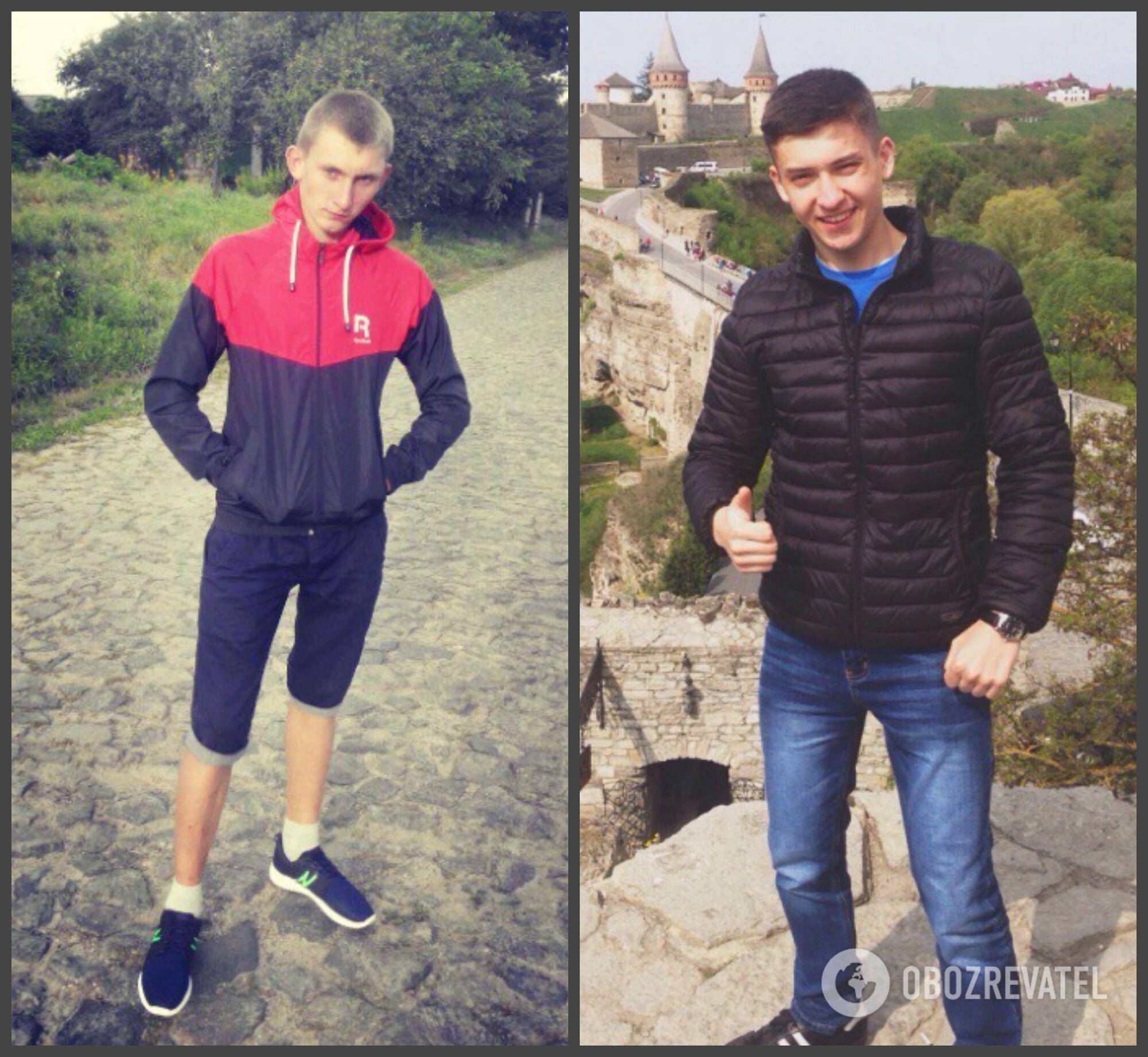 Слева направо: погибшие в ДТП Ярослав Бунич и Дмитрий Мордач