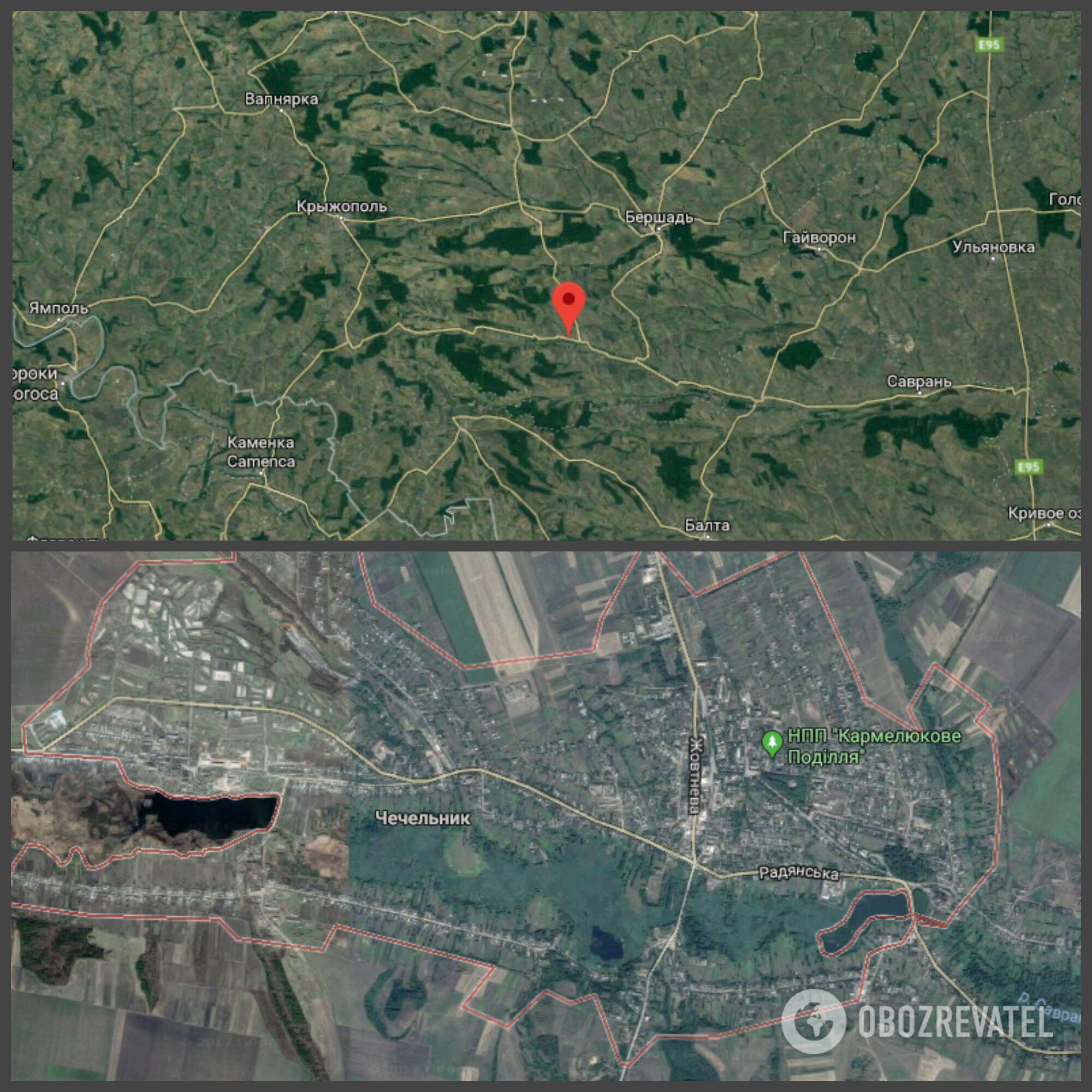 ДТП произошло рядом с поселком Чечельник