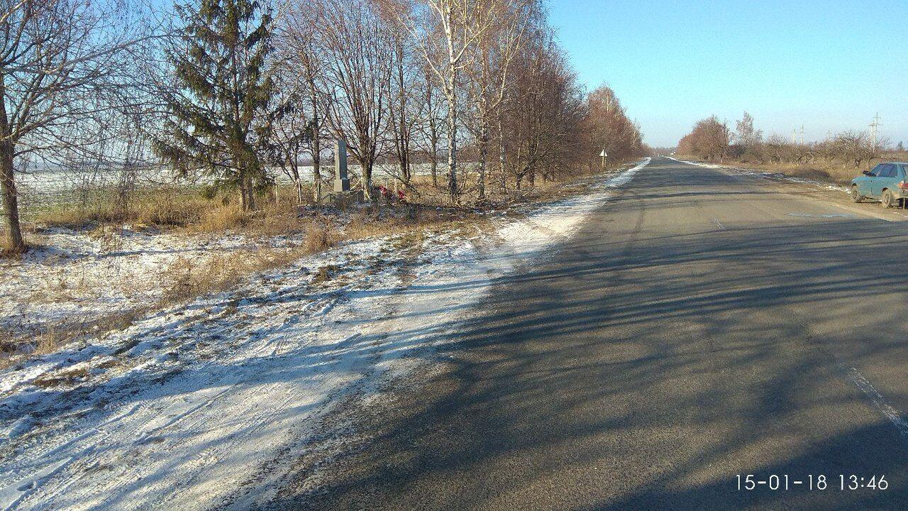 Снимок места ДТП, сделанный на следующий день. Видно, что на дороге нет гололеда