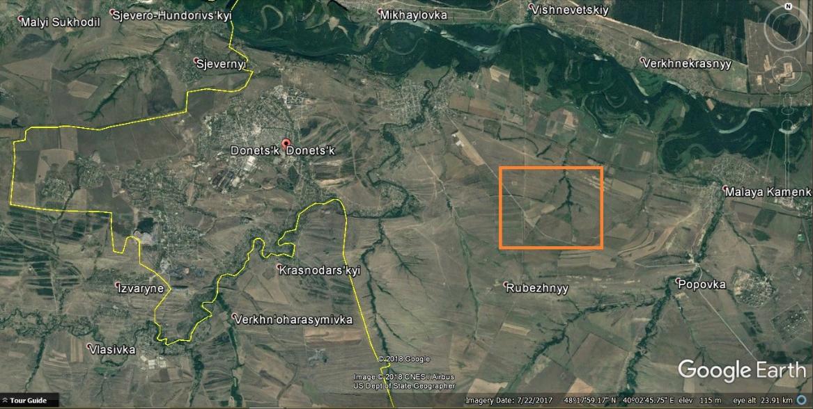 Спутник снял вторжение армии России в Украину