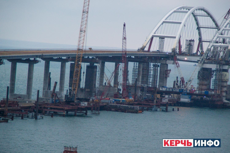 Строительство Керченского моста в Крыму: появились новые фото