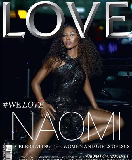 Наоми Кэмпбелл на обложке LOVE