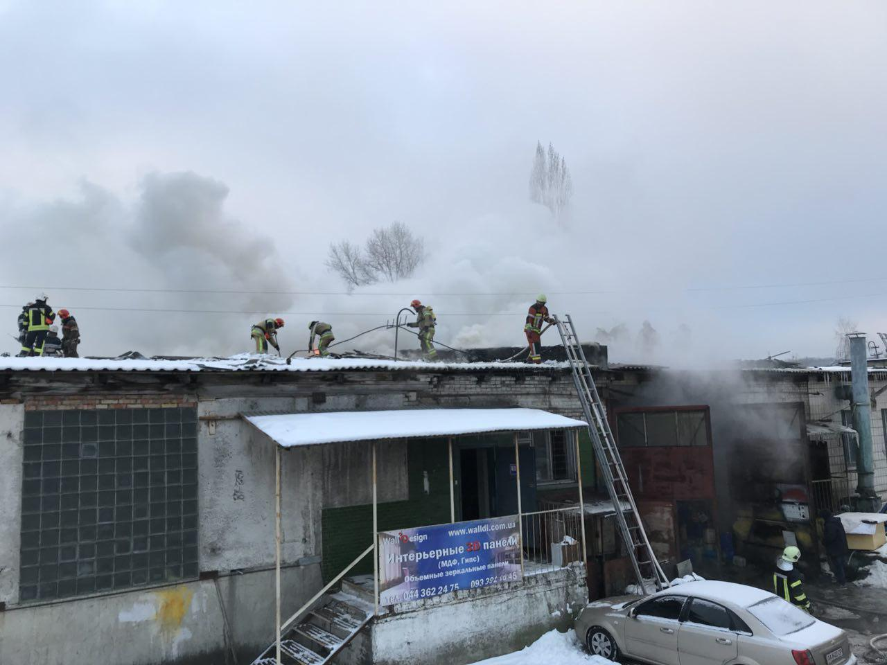 На Видубичах в Києві сталася пожежа