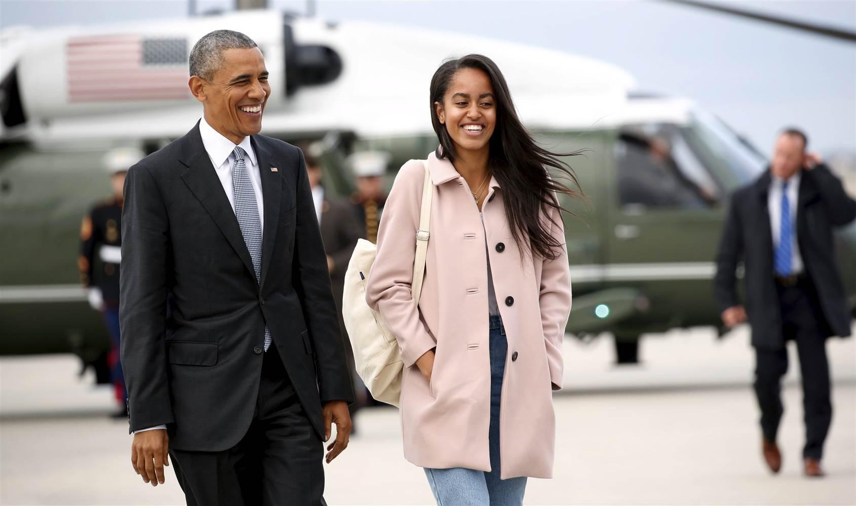 Барак и Малия Обама