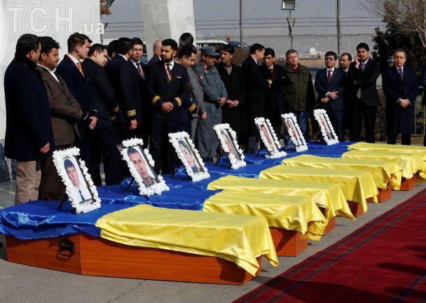 Прощание с погибшими украинцами в Кабуле