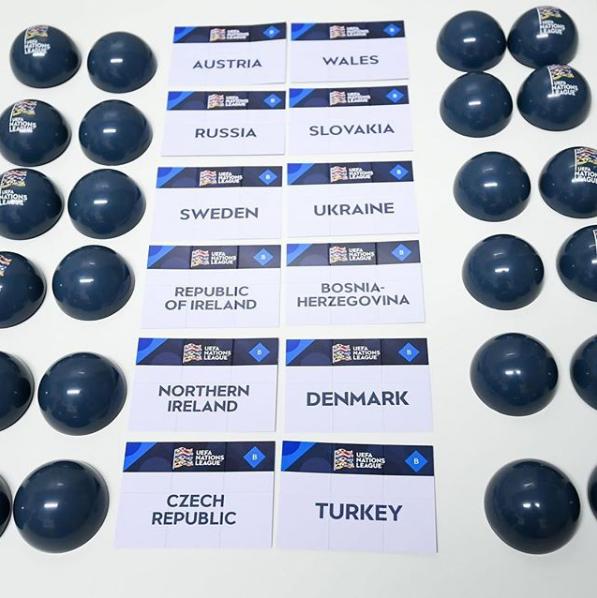 Сборная Украины получила соперников в Лиге наций УЕФА