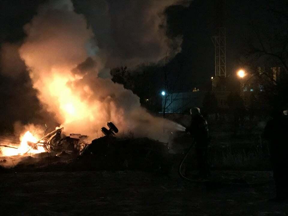 В Кременчуге разбился вертолёт: все подробности
