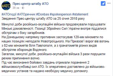 Террористы ударили по силам АТО на Донбассе: есть потери