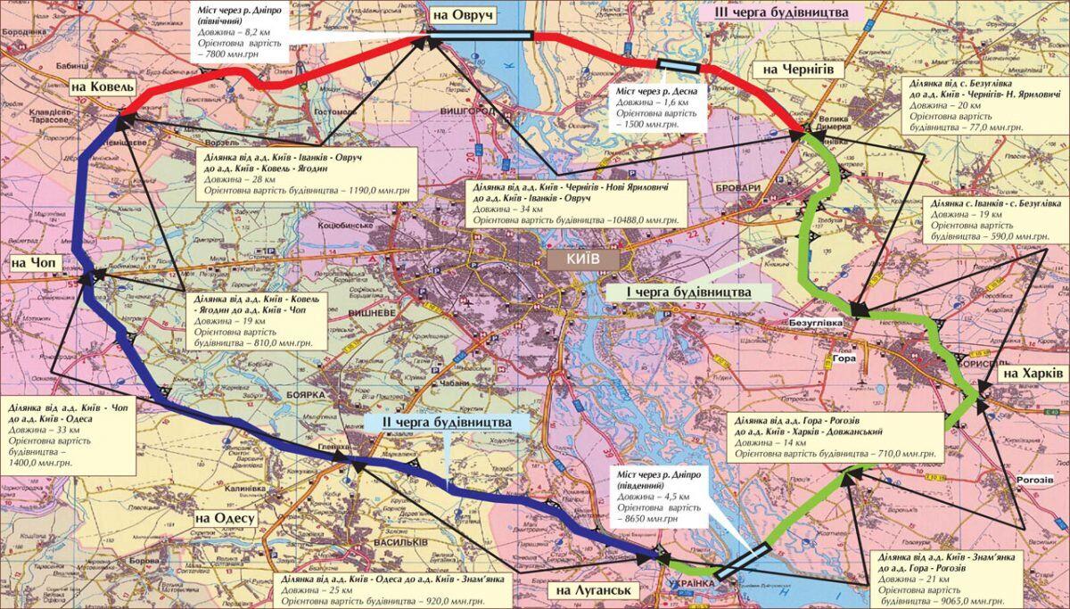 В Киеве построят новую окружную дорогу за $2 млрд: появилась схема
