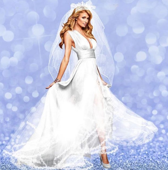 Періс Хілтон у весільній сукні