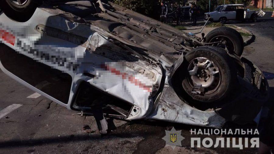 В Бердянске перевернулся автомобиль представителей СМИ
