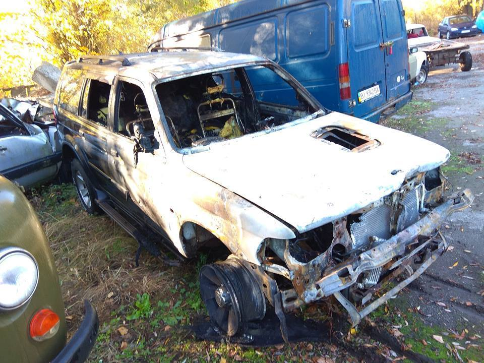 Выступавшему за отставку Терещенко активисту сожгли авто: фотофакт