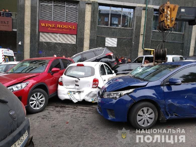 Масштабное ДТП в центре Киева: новые детали