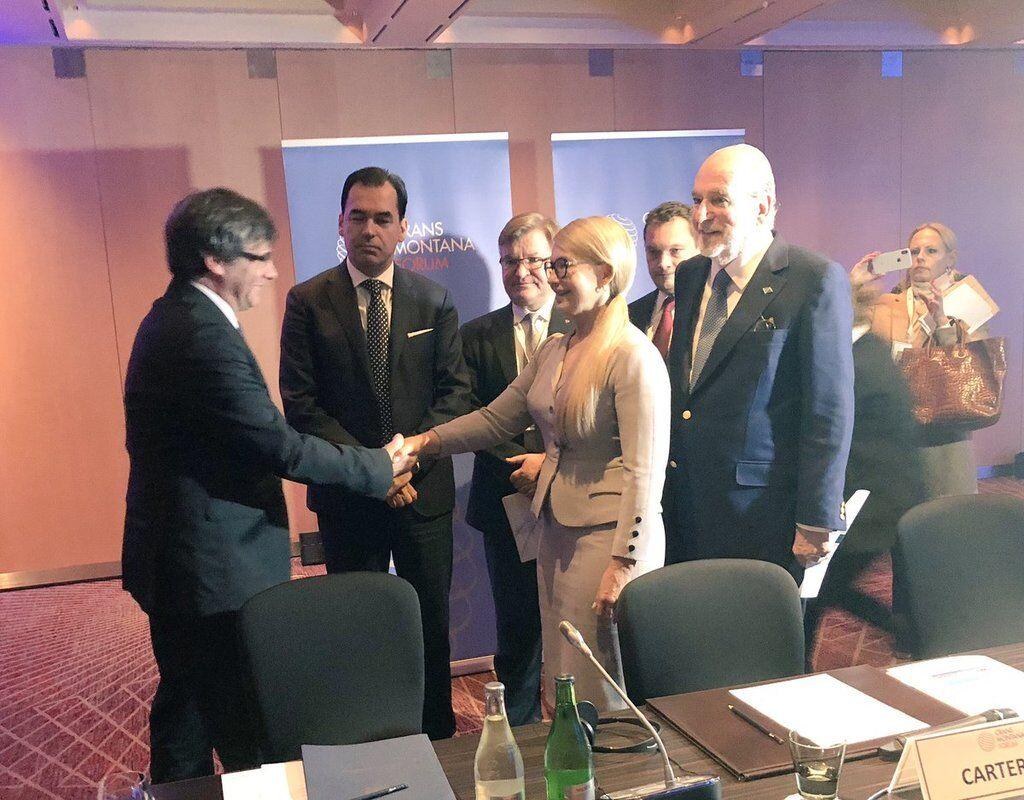 ''Удачи на выборах!'' Тимошенко встретилась с лидером сепаратистов Каталонии
