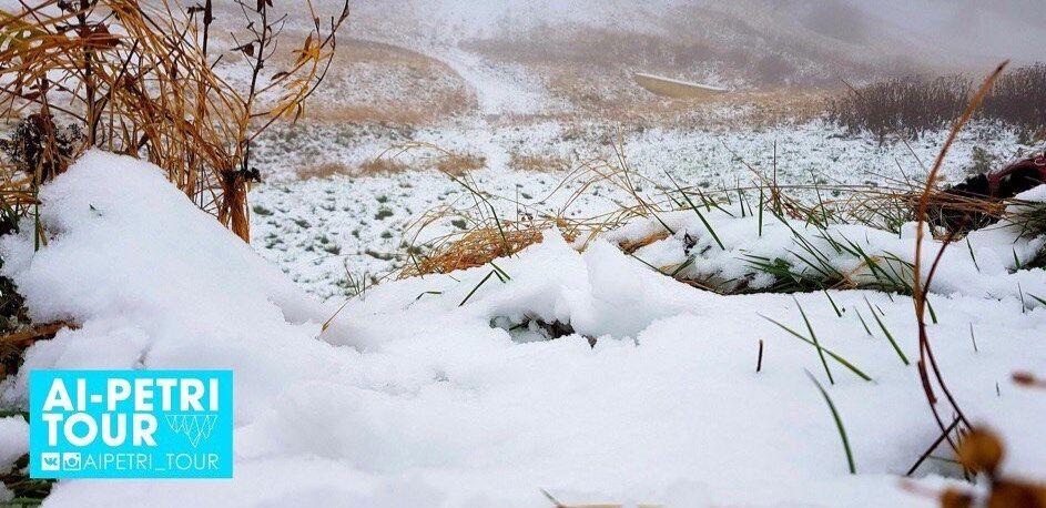 У Криму випав перший сніг: яскраві фото