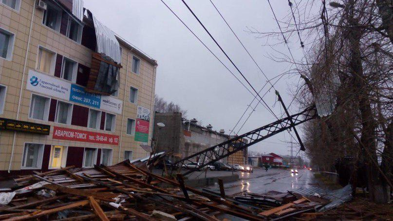 По России пронесся страшный ураган