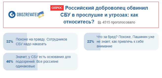 Украинцы ополчились против добровольца Пашинина