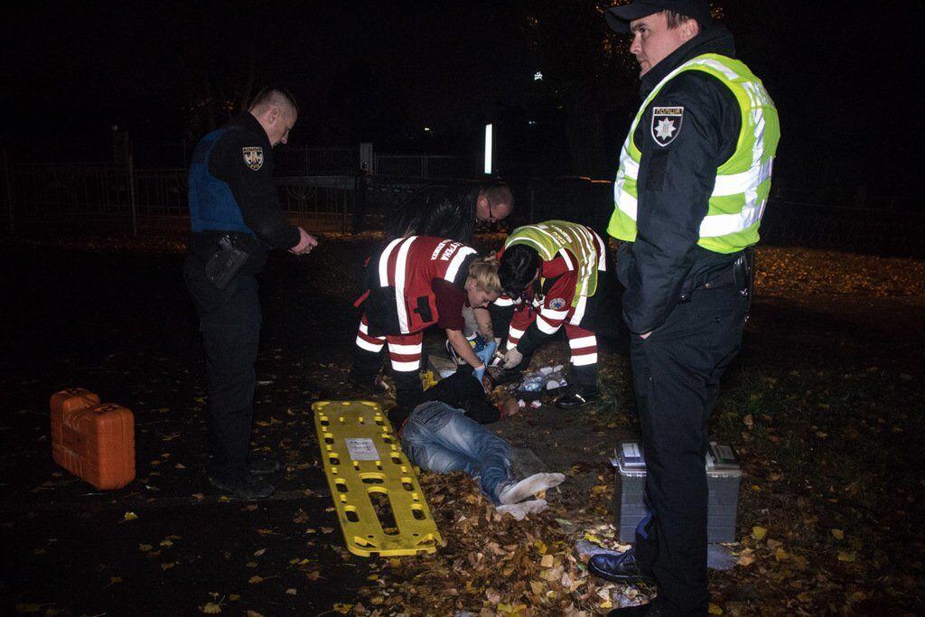 В центре Киева полиция сбила человека