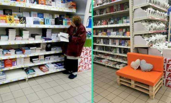 История с читающей в супермаркете Киева бабушкой приняла неожиданный поворот
