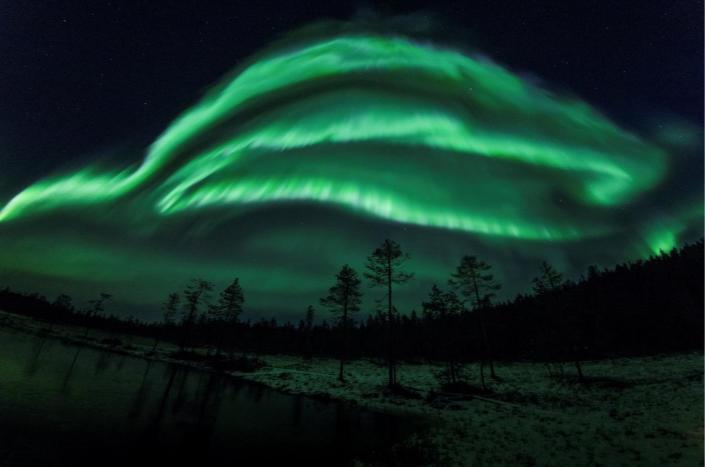 Північне сяйво в Фінляндії: унікальні фотографії