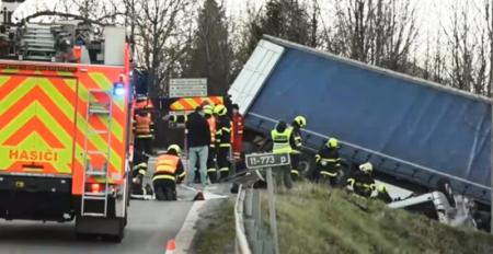 У Чехії розбився автобус з українцями: фото і відео