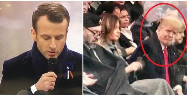 Макрон публично унизил Трампа в Париже