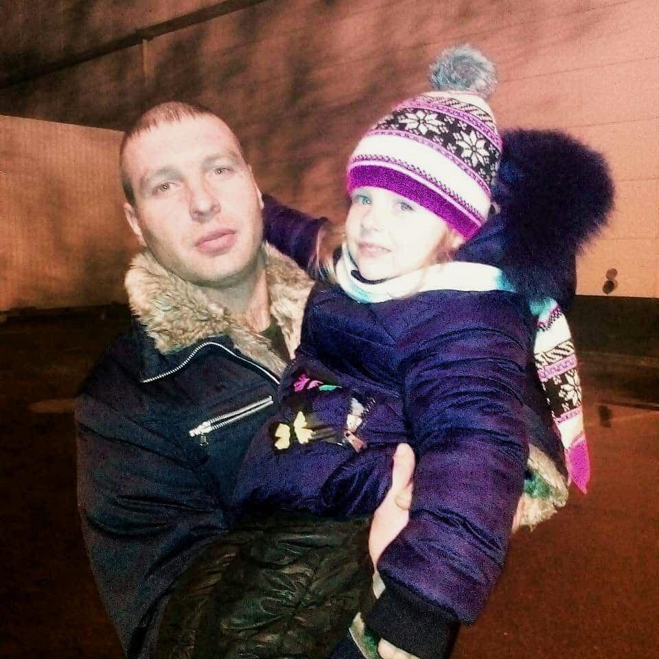 Сергій з дочкою Асею
