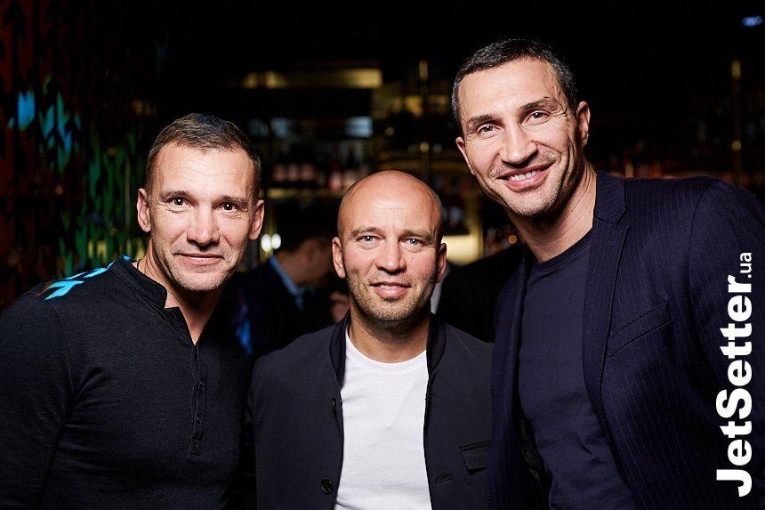 Андрей Шевченко, Руслан Олексенко и Владимир Кличко