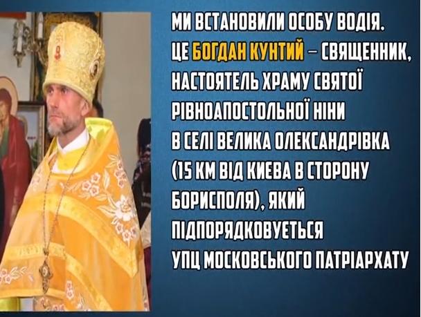 Священик УПЦ МП ледь не збив людину. Відео