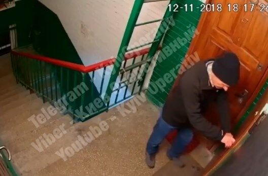 В сети показали видео с незадачливым вором в Киеве