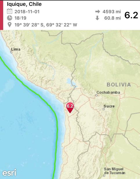 Чили всколыхнуло мощное землетрясение