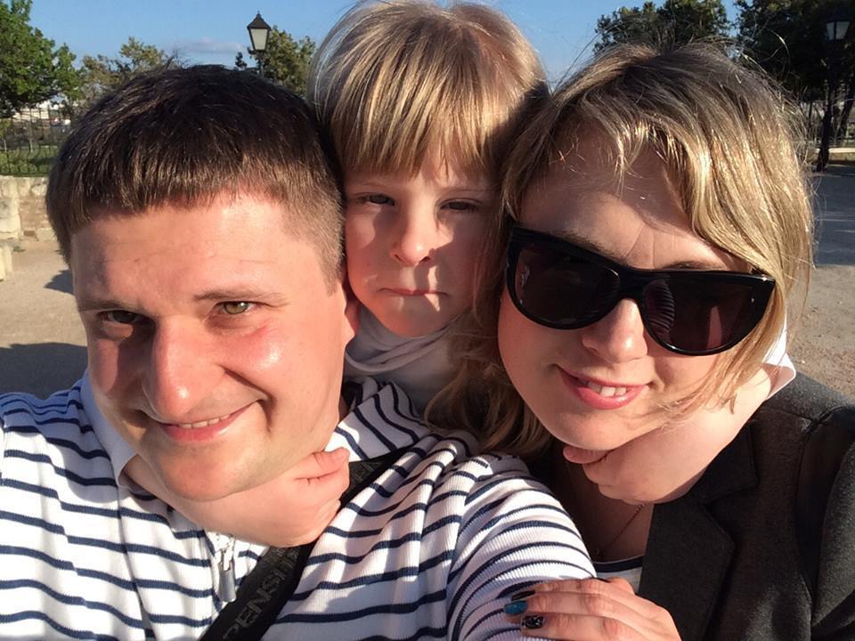 Марго з батьками