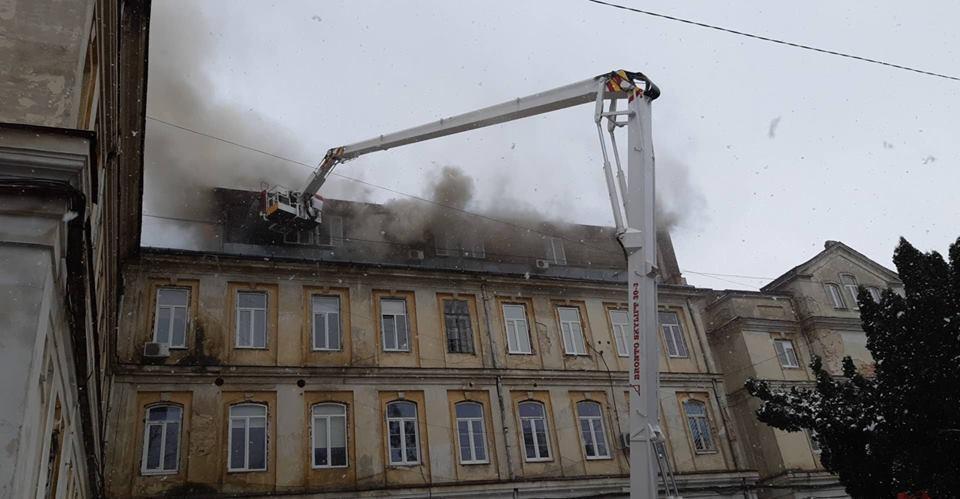 У Львові загорілася обласна лікарня