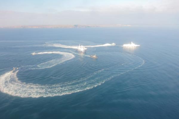Бойове зіткнення російських і українських кораблів