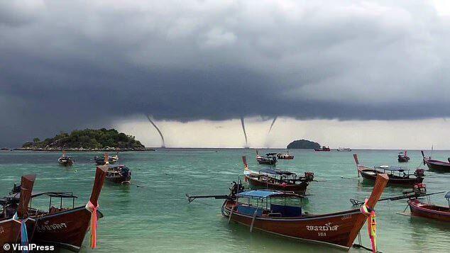 Бурхливі смерчі в Таїланді шокували туристів: страхітливі фото і відео
